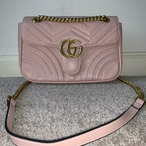 Authentic Gucci Marmont Pink Purse